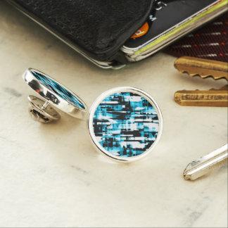 Lapel Pin Hot Blue Black abstract digitalart G253