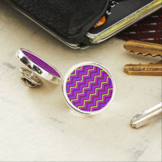 Lapel Pin Zig Zag Chevron Pattern