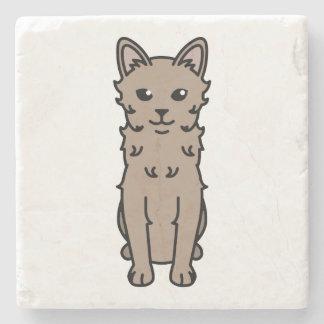 LaPerm Cat Cartoon Stone Beverage Coaster