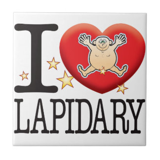 Lapidary Love Man Small Square Tile