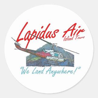 Lapidus Air Island Tours Round Sticker
