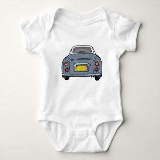 Lapis Grey Figaro Car Baby Romper Baby Bodysuit