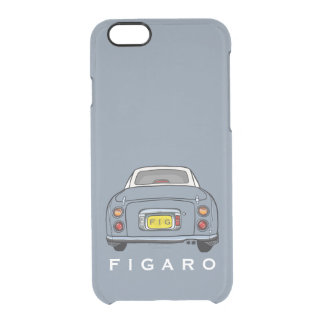Lapis Grey Figaro Car Personalized Clear iPhone 6/6S Case