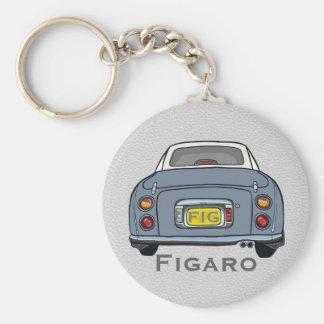 Lapis Grey Nissan Figaro Car Keyring