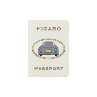 Lapis Grey Nissan Figaro Car Passport Cover