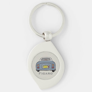 Lapis Grey Nissan Figaro Custom Key Ring