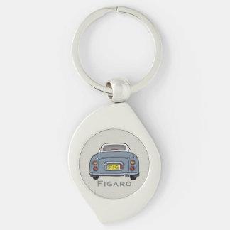 Lapis Grey Nissan Figaro Custom Key Ring