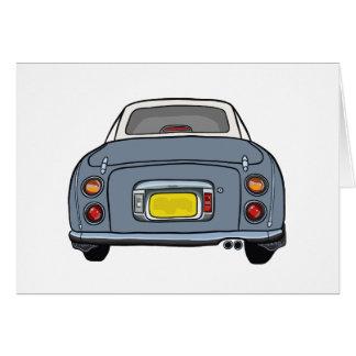 Lapis Grey Nissan Figaro Greeting Card
