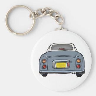 Lapis Grey Nissan Figaro Keyring Basic Round Button Key Ring
