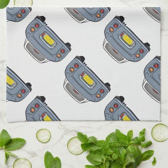 Lapis Grey Nissan Figaro Kitchen Tea Towel