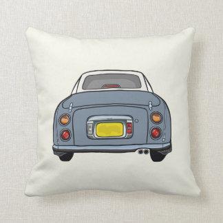 Lapis Grey Nissan Figaro on cream Pillow Cushion