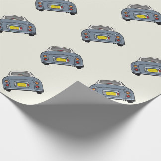 Lapis Grey Nissan Figaro Wrapping Paper