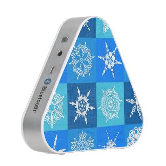 Lapis Lazuli Blue Snowflakes Collection