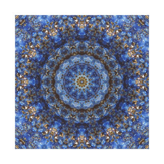 """Lapis Lazuli Laminate"" Mandala Canvas Prints"