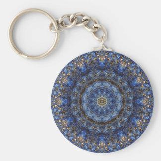 """""""Lapis Lazuli Laminate"""" Mandala keychain"""
