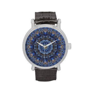 Lapis Lazuli Laminate Mandala Watch