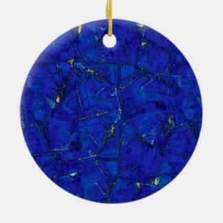 Lapis Lazuli Round Ceramic Decoration
