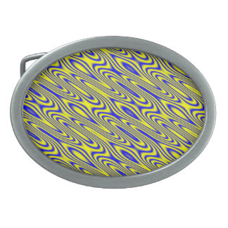Lapis Lazuli Swirlies Abstract Belt Buckle