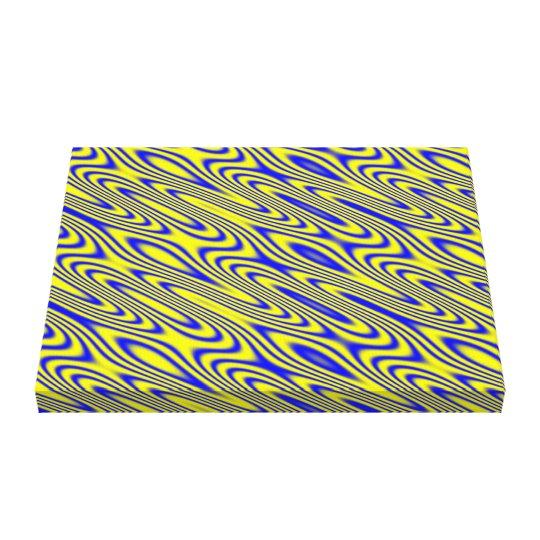 Lapis Lazuli Swirlies Abstract Patter Canvas Print