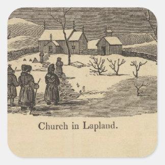 Lapland church, Palace St Petersburgh Square Sticker