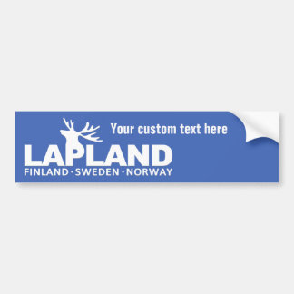 LAPLAND custom text & color bumpersticker Bumper Sticker