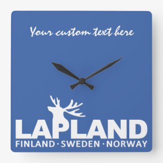 LAPLAND custom text & color wall clock