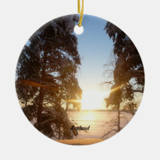 Lapland Landscape Christmas Ornament