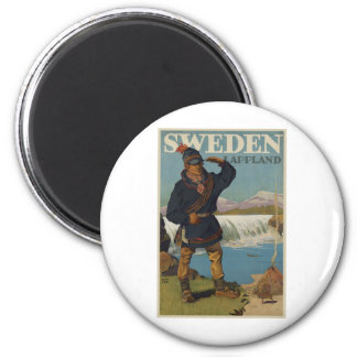 Lappland Sweden 6 Cm Round Magnet