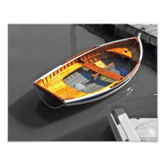Lapstrake Boat Reflections Print