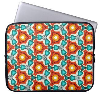 """Laptop 15""""  Sleeve in Teal & Orange"""