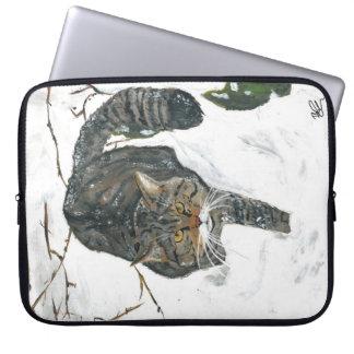 Laptop bag - scottish wildcat painting laptop computer sleeves