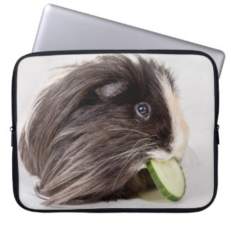 Laptop case cute guinea pig eating cucumber