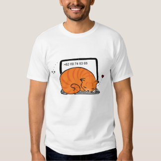 Laptop Cat Bed (Orange Tabby) Tees