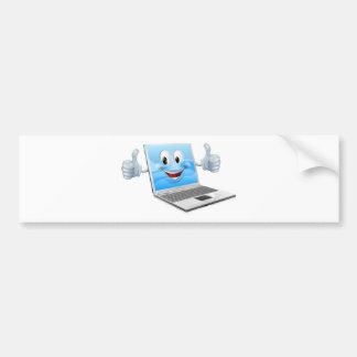 Laptop mascot man bumper sticker