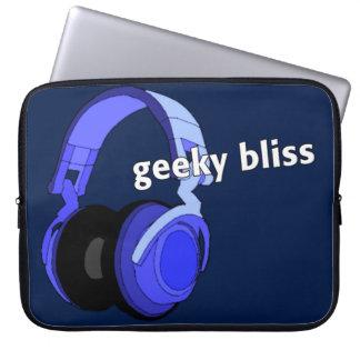 Laptop or Netbook Sleeve Headphones Cartoon Art Laptop Sleeves