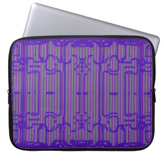 "Laptop Sleeve - 15"" - Decorative Blue Grille"