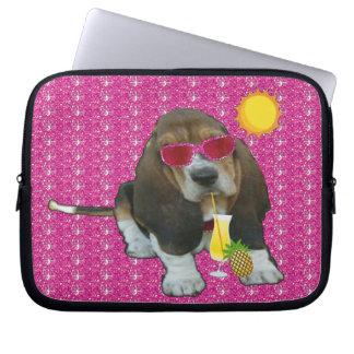 Laptop Sleeve Baby Basset Hound Summer Time
