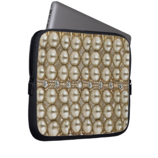 Laptop Sleeve Pearls and Diamonds