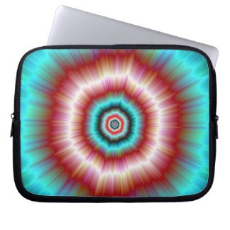 Laptop Sleeve   Red and Blue Exploding Doughnut