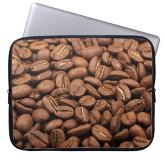 Laptop Sleeve with print of coffee beans