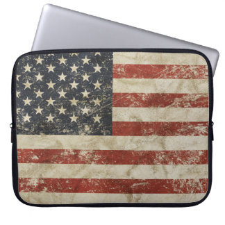 Laptop Sleeve with vintage flag of USA