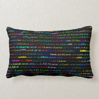 Lara Text Design I Lumbar Pillow