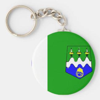 Larache, Morocco Basic Round Button Key Ring