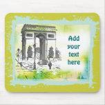 L'Arc de Triomphe Collage Art Mousepad