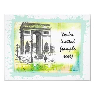 """L'Arc de Triomphe Invitations 4.25"""" X 5.5"""" Invitation Card"""