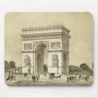 L'Arc de Triomphe, Paris, engraved by Auguste Bry Mouse Mat