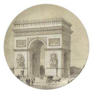L'Arc de Triomphe, Paris, engraved by Auguste Bry Plate