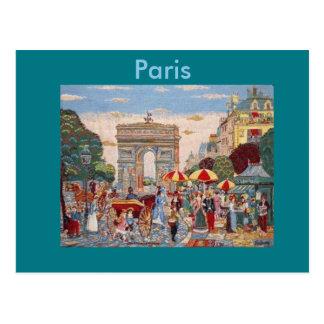 L'Arc de Triomphe Paris, France Postcard