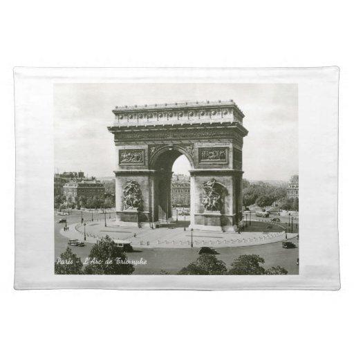 L'Arc de Triomphe, Paris France Vintage Placemats