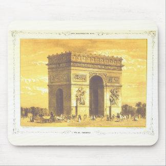 L'Arc de Triomphe, Paris, Vintage 1840 Mouse Pad